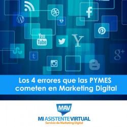 Errores de las PYMES en Marketing Digital